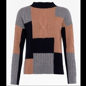 French Connection Amie Patch Cable Sweater NWT